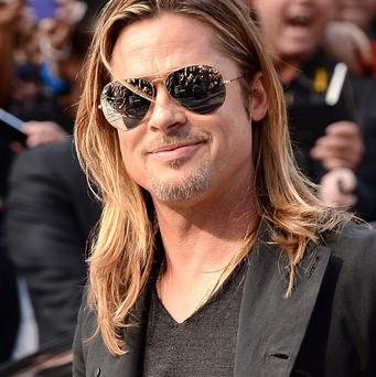 A stuntman has suffered a bayonet wound on the set of the new Brad Pitt film.