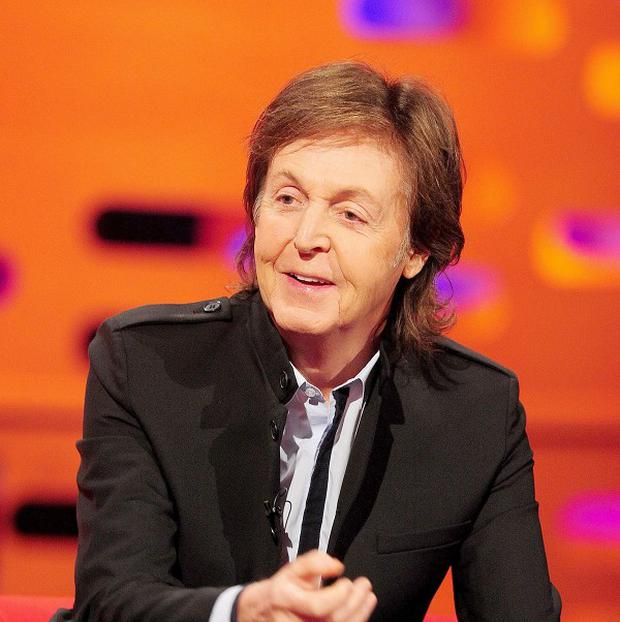Sir Paul McCartney agreed to appear in a TV sketch if James Corden agreed to name his son after him, the actor says