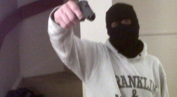 The men, who targeted newsagents in Kent and Sussex, also created a Blackberry Messenger group called Armed Robbers