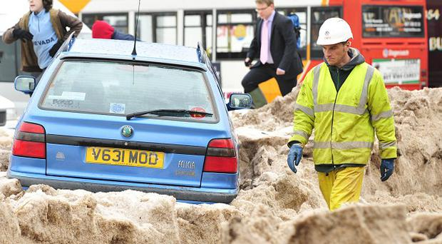 Freak weather brings havoc to a UK town