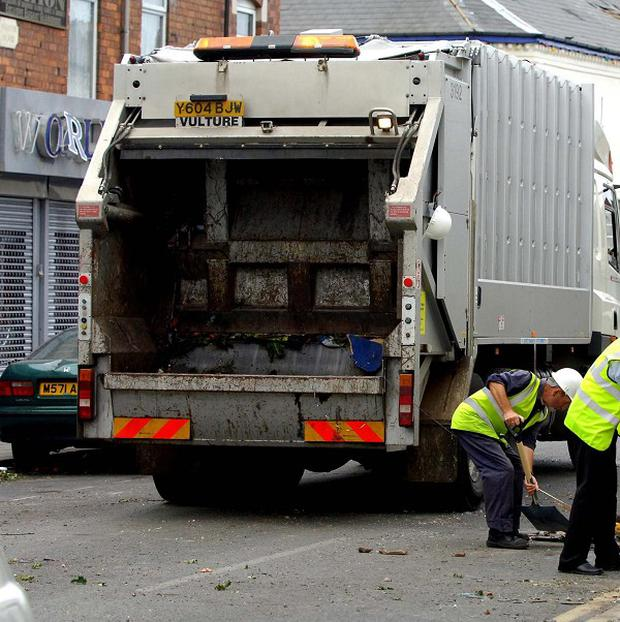 A bride will travel in a bin lorry on her wedding day in Sunderland