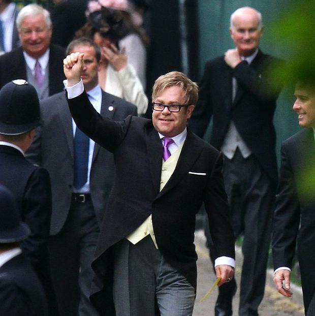 Sir Elton John claims he once jived with the Queen.