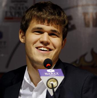 Norway's Magnus Carlsen is the new chess world champion (AP)