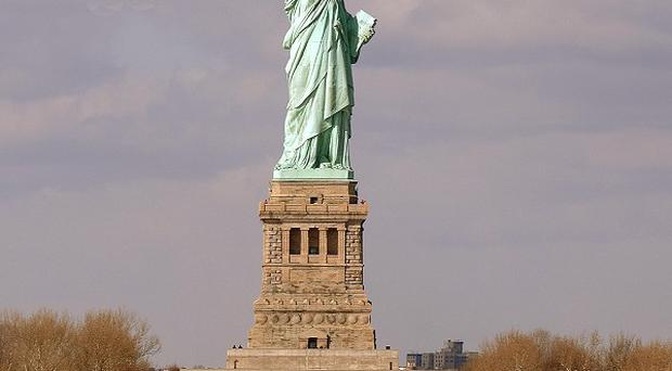 The Statue of Liberty has appeared on more than 20 stamps