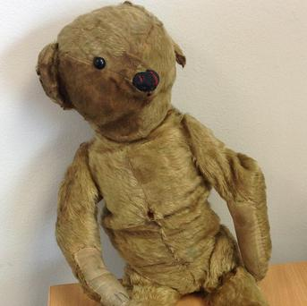 The bear was left behind in a departure lounge