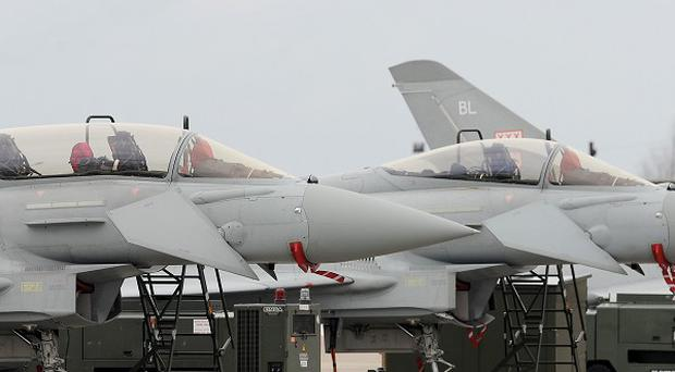 RAF fighters have flown with parts made from 3D printing technology.