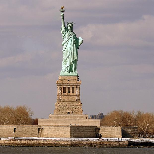 The plane developed trouble while on a tour of the Statue of Liberty