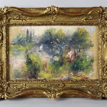 An apparently original painting by French impressionist Pierre-Auguste Renoir that was acquired by a woman from Virginia at a flea market (AP/Potomack Company)