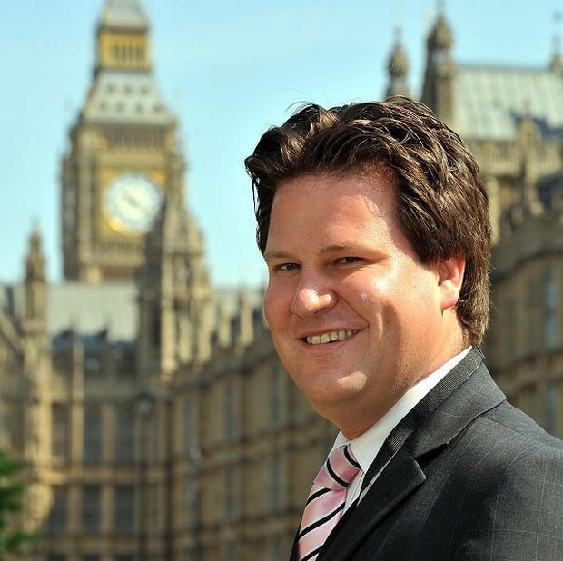 Alec Shelbrooke the new MP for Elmet and Rothwell in Leeds, outside the Houses of Parliament.