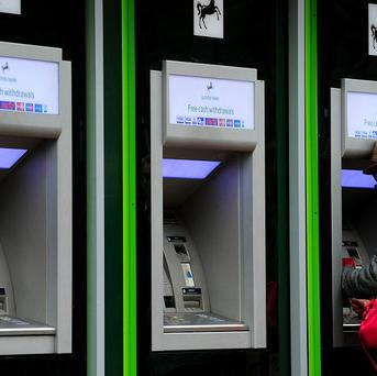 A Lloyds Bank ATM cash machine gave an unexpected windfall to customers.