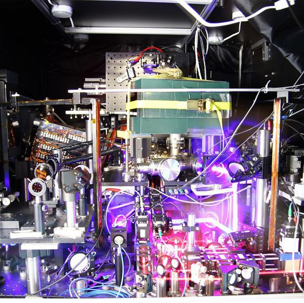 The record-breaking strontium lattice clock, which neither loses nor gains a second in five billion years. (PA/National Institute of Standards and Technology)