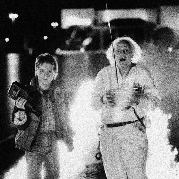 Michael J Fox and Christopher Lloyd starred in sci-fi hit Back to the Future (AP)