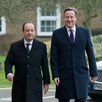 Prime Minister David Cameron took French president Francois Hollande to a pub for lunch