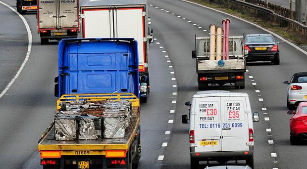 The Highways Agency said the hole on the M2 measured 16ft (5m) by 6ft (2m) and was 50ft (15m) deep