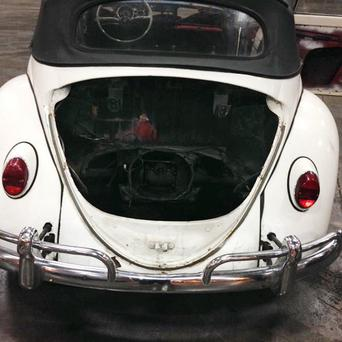 A 1965 Volkswagen Beetle stolen 40 years ago in Tennessee is seen in Detroit (AP/Customs and Border Protection)