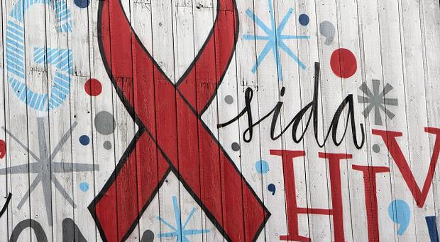 A street mural calls for the urgent need to stop HIV and Aids