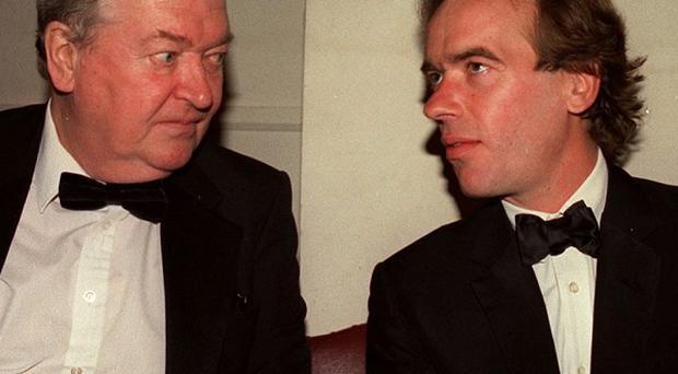 Sir Kingsley Amis with his son Martin