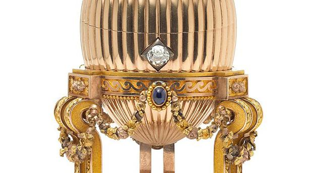 A Third Imperial Faberge Easter Egg made for Russian royalty that was bought by a scrap metal dealer at a US bric-a-brac market.