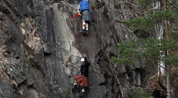 The route is Scotland's first Via Ferrata