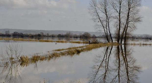 Winter storms left the Somerset Levels under water