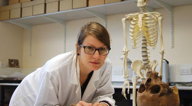 PhD student Michaela Binder, who has discovered evidence of furred arteries in people living 3,000 years ago (University of Durham/PA)