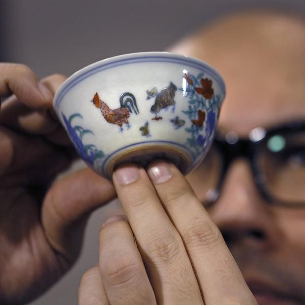 A Ming Dynasty cup has fetched 36 million US dollars at auction in Hong Kong (AP)