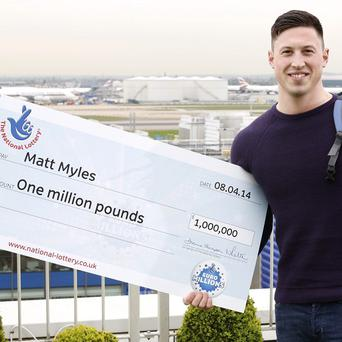 Matt Myles, a man made a millionaire by a Euromillions raffle ticket he bought in Morrisons, who has set off on a whirlwind tour of the globe.