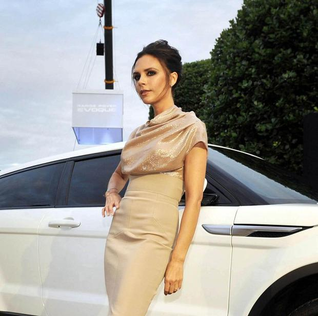 Victoria Beckham's initials are on the car's wheels
