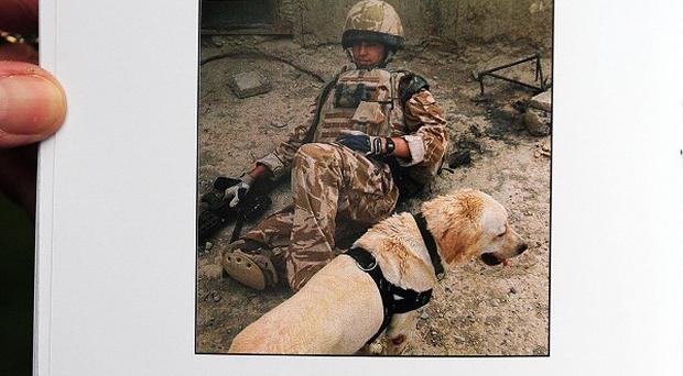 The order of service for the 2008 funeral of Lance Corporal Kenneth Rowe, 24, of the Royal Army Veterinary Corp, featured a tribute to Sasha, who died alongside him