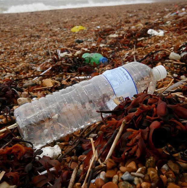 Rubbish left on a beach in Dover, Kent, as the amount of rubbish on the UK's beaches has reached its highest level ever, according to a survey.