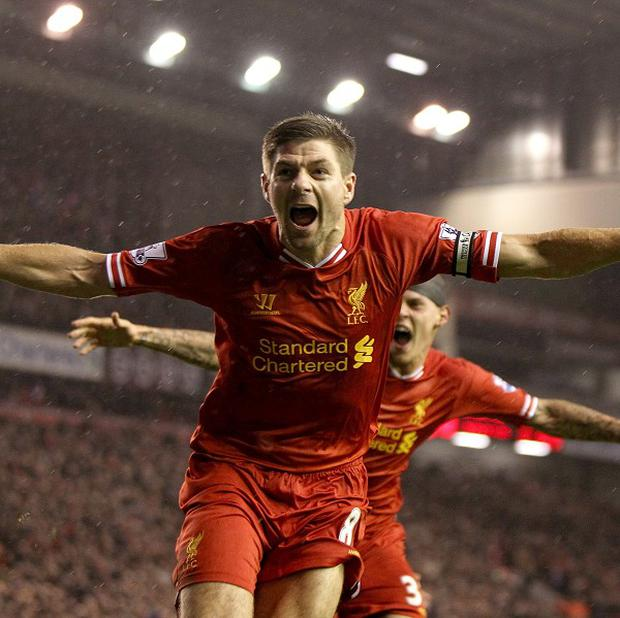 Liverpool's Steven Gerrard is a hero of Uke Krasniqi from Kosovo