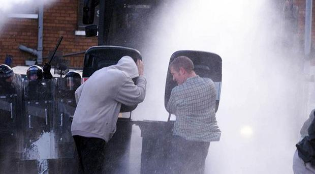 Water cannon have previously been deployed in Northern Ireland