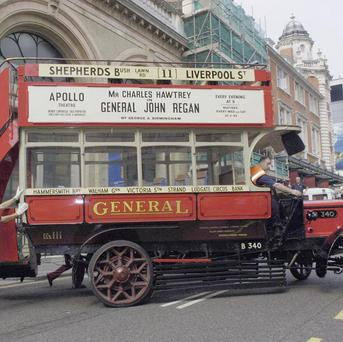 A B-type bus similar to the one pictured has been restored by the London Transport Museum