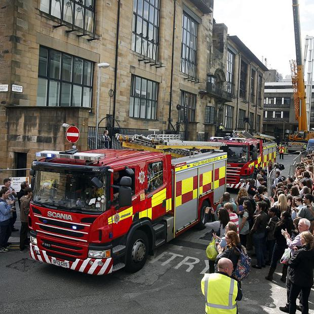 The Scottish Fire and Rescue Service won widespread praise for its handling of the fire which devastated the Mackintosh building