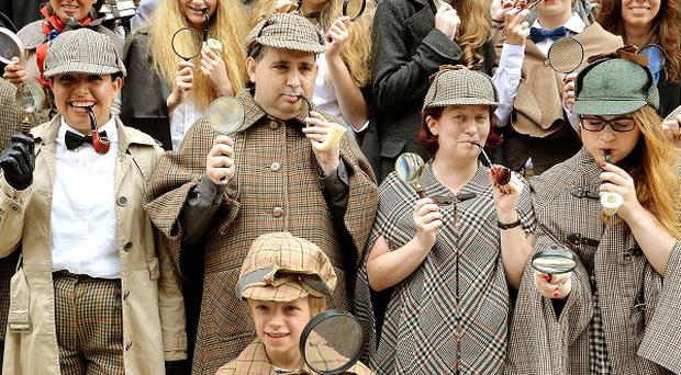 Fans of Sherlock Holmes gather dressed as the detective