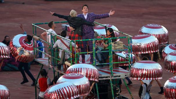 The giant Tunnock's teacakes used in the opening ceremony of the Commonwealth Games are among items up for auction