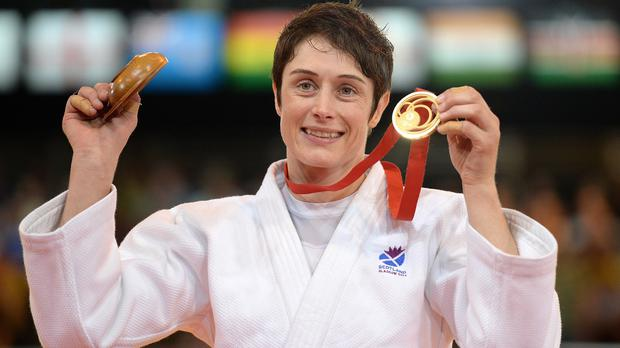 Sarah Clark won gold in judo in the under-63kg division at the Commonwealth Games