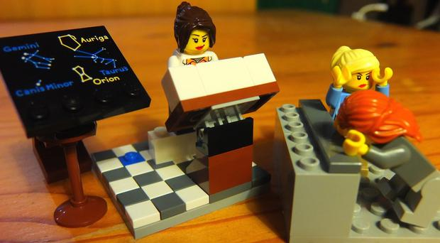 One of the photos posted on the @LegoAcademics Twitter account