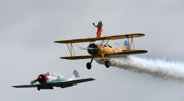 Tom Lackey will be back in harness as a wing walker at the age of 94