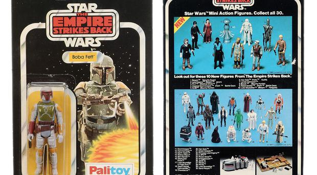 The Boba Fett figure which is being sold at auction
