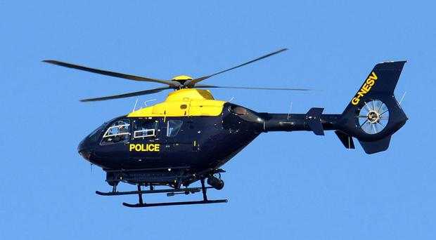 The police helicopter was used in the chase.