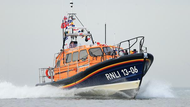 The volunteer RNLI crew arrived on the scene at 7.10pm