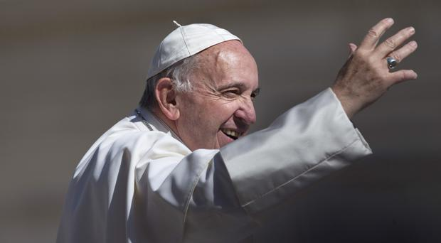 Pope Francis told Milan and Juventus players they should always uphold the positive values of sport (AP)