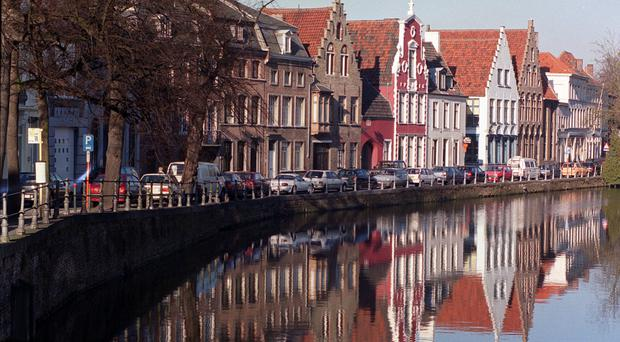 The beer pipeline is being built underneath Bruges