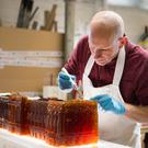 The metre-long jelly was crafted using 35 litres of liquid - including Pimm's No 1 Cup and champagne