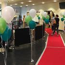 A red carpet awaited students collecting their A-level results at Coleg y Cymoedd