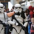 Stormtroopers visit a shopping centre