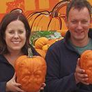 Frankenstein pumpkin grown by farmer Guy French and his wife Emily at their farm in Essex (Foxes Farm Produce/PA)