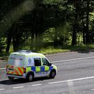 Officers rushed to the scene at junction 11 of the M62 after receiving a call that a woman was being assaulted by a man in a car