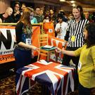 Competitors take part in the annual UK Rock Paper Scissors Championship